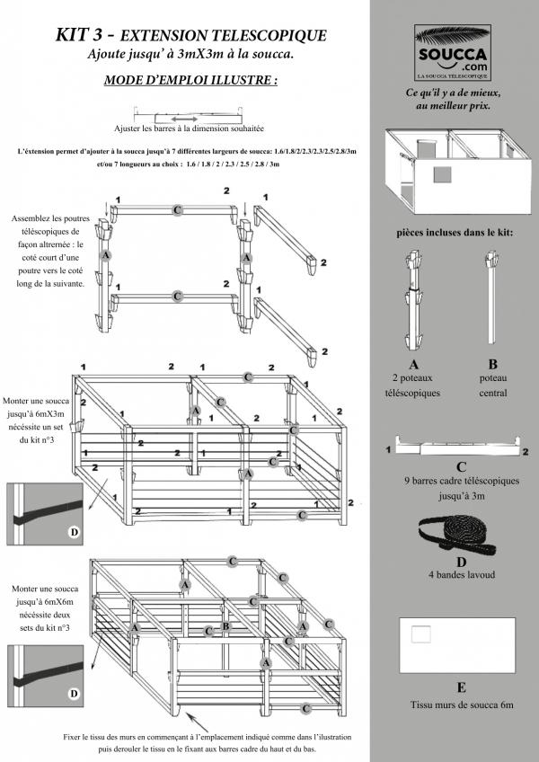 Instructions de Montage Soucca telescopique Kit 3